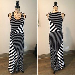 Kenzie striped long dress